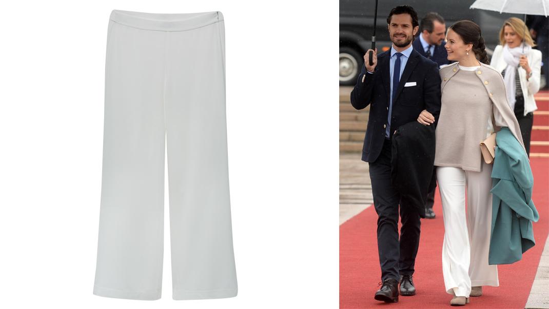 Här köper du Sofias snygga vita byxor