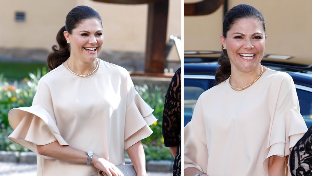 Kronprinsessan i budgetblus från Zara