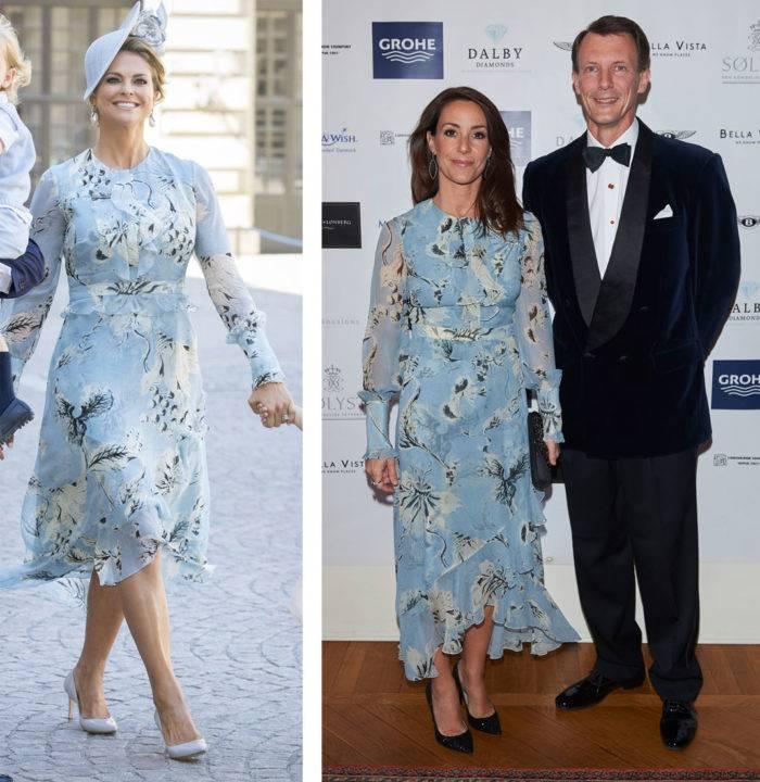 Madeleine och Marie i likadana klänningar   Kungliga modebloggen
