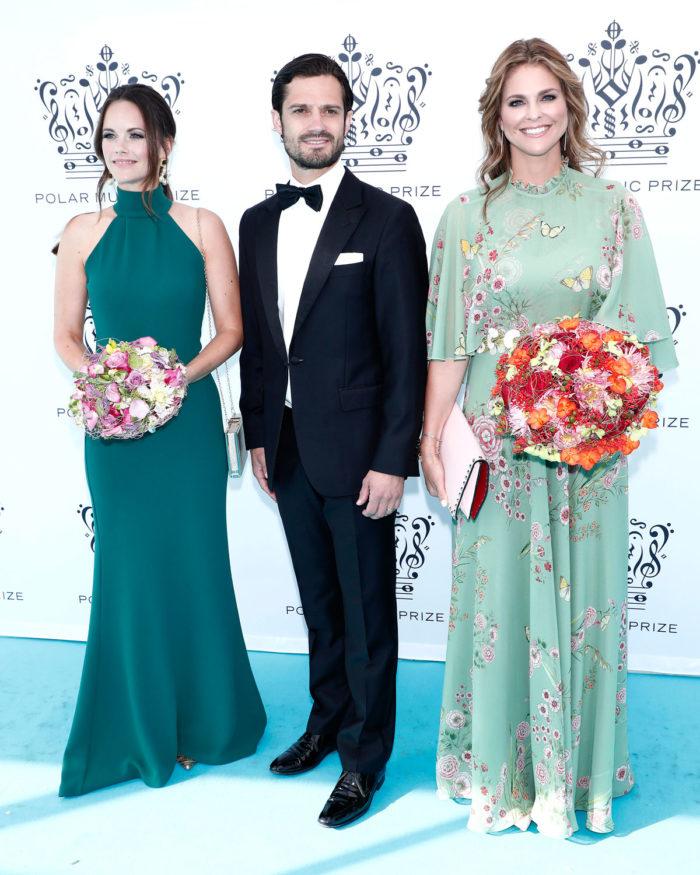 Prinsessan Sofia, prins Carl Philip och prinsessan Madeleine på Polarprisgalan.