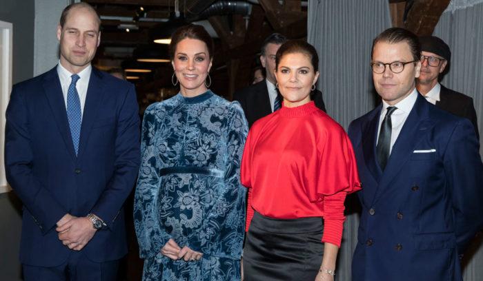 William, Kate, Victoria och Daniel i Sverige.
