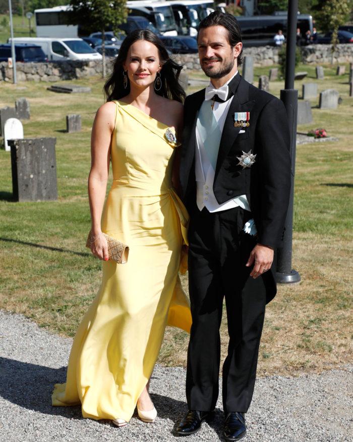 Prinsessan Sofia i gul klänning.