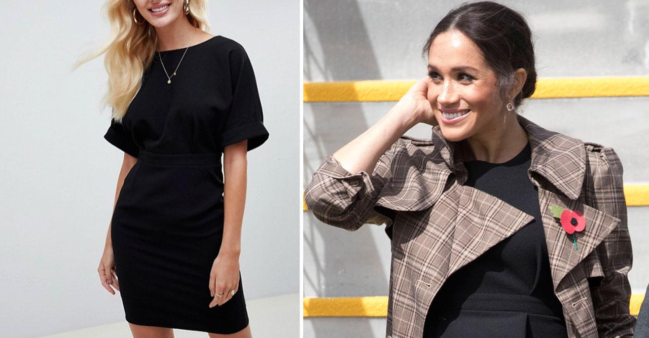 Meghan och svart klänning.
