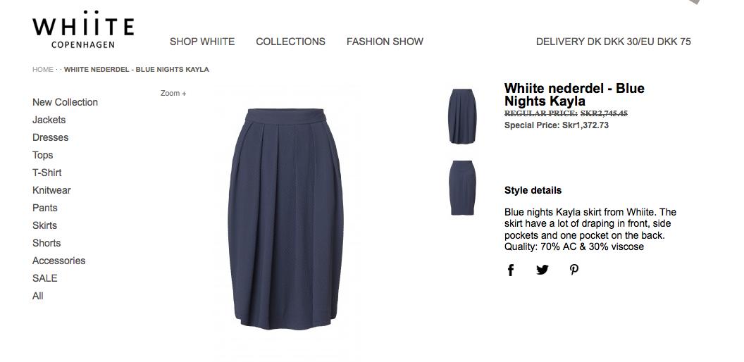Marys kjol och blus