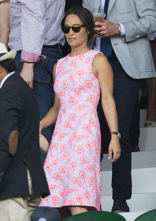 Pippas rosa Wimbledon-klänning