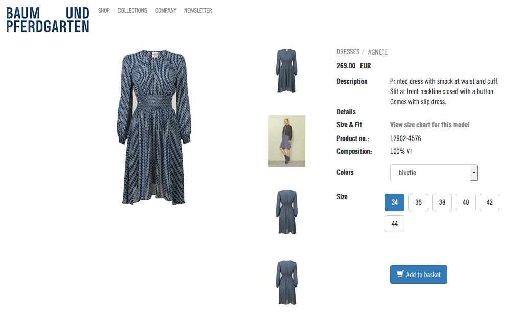 Victorias nya klänning