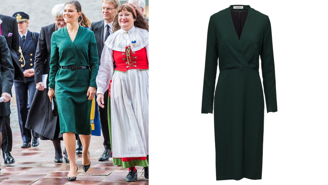 Victoria i klänning från Rodebjer