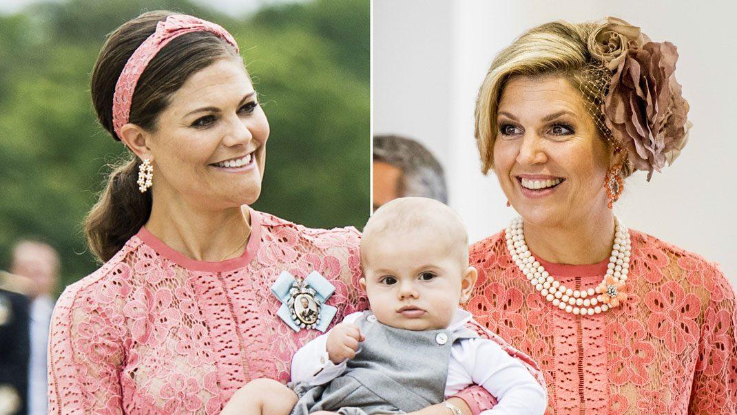 Victoria och Máxima i Elie Saab