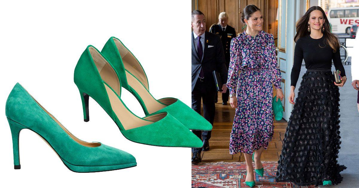 Nya trenden – gröna skor på Sofia och Victoria