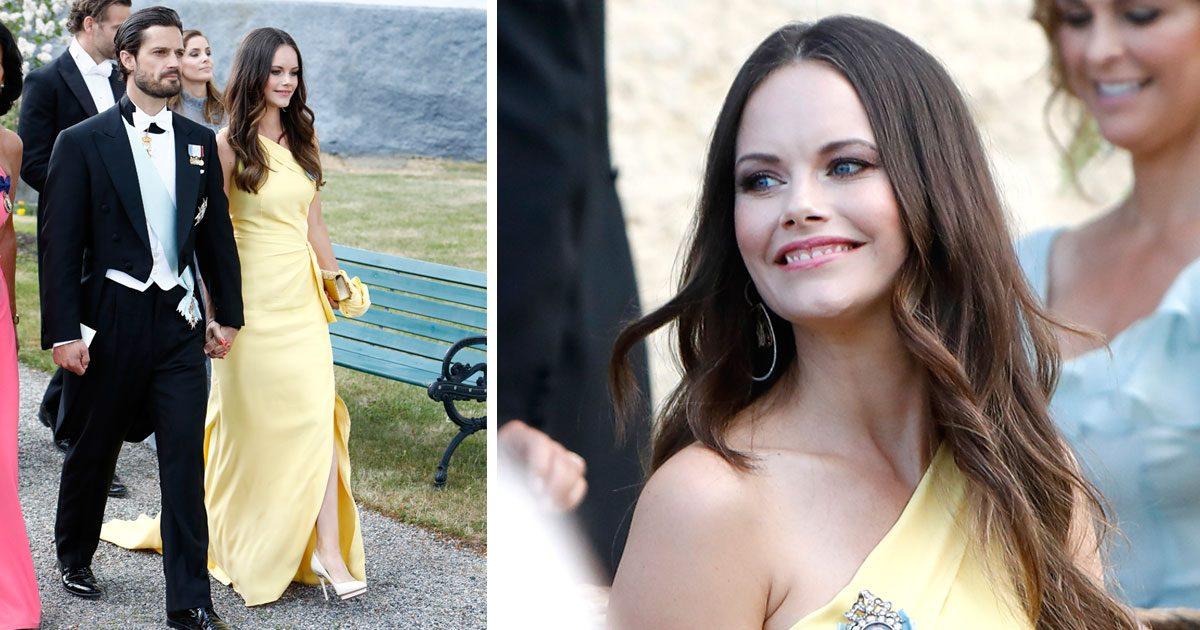 Sofia i gul klänning från Ida Lanto