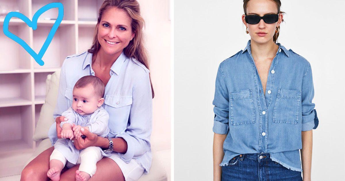 Prinsessan Madeleine i blus från Zara