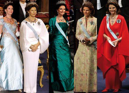 Silvias klänningar genom tiderna...