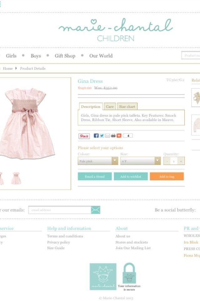 Estelles klänning - från Marie Chantal
