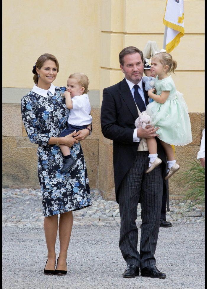 Princess Madeleine and Duchess Leonore and Chris O Neill and Prince Nicolas  at the Baptism. Prinsessan Madeleine ... e6ccc786a68c6